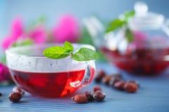 еда темы чая здоровой иллюстрации вальм розовой Стоковые Фото