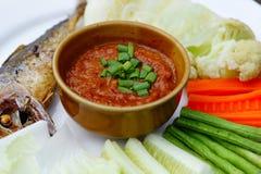 Еда томатного соуса пряная Стоковая Фотография