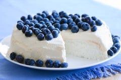 еда торта ангела Стоковая Фотография RF