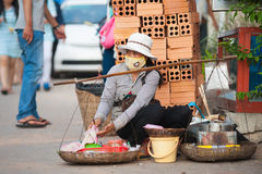 Еда улицы, Камбоджа Стоковые Фотографии RF