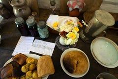 Еда фермы кухни, домашняя кухня Стоковые Изображения RF