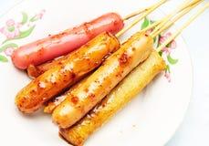Еда характеристик -- зажаренное sausa Стоковое фото RF