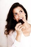 еда шоколада Стоковое Изображение RF