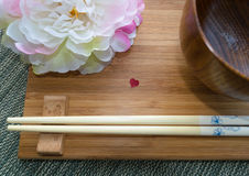 Еда японца влюбленности Стоковая Фотография RF