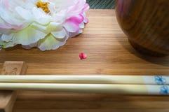 Еда японца влюбленности стоковые изображения rf