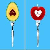 Еда для здорового сердца иллюстрация вектора