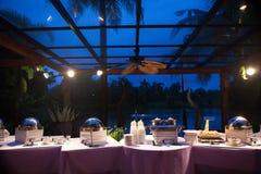 Еда для обедающего свадьбы Стоковое Изображение RF