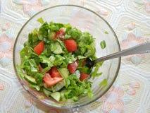 Еда для салатов завтрака, сосисок Стоковые Изображения