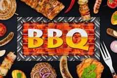 Еда BBQ Стоковое Изображение