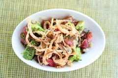 Еда hawaiian тунца шара poke ресторана Гаваи сырцовая Стоковые Фото