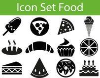 Еда i значка установленная иллюстрация штока