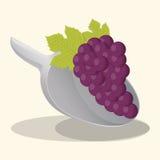 еда vegan виноградины свежая иллюстрация вектора