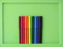 3 леденца на палочке на коричневой предпосылке Стоковое Изображение RF