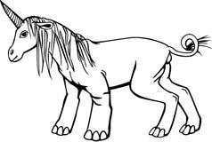 Единорог с ногами слона иллюстрация вектора