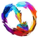 Единство и цветение допуска через маловероятные приятельства, противоположности привлекают Стоковое Изображение RF
