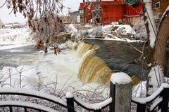 ледистый водопад Стоковое Изображение RF