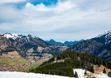 Ели и горы в Германии Стоковая Фотография