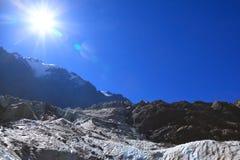 ледники над солнцем Стоковая Фотография