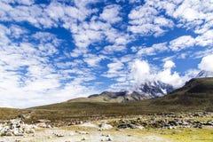 ледник и гора Стоковое Изображение