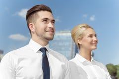 2 делового партнера внешнего Стоковое Изображение
