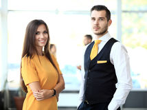 2 делового партнера планируя работу Стоковые Фотографии RF
