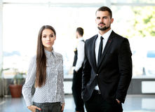 2 делового партнера планируя работу Стоковое Фото