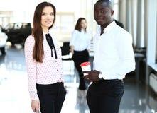 2 делового партнера планируя работу Стоковое Изображение RF
