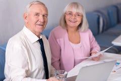 2 делового партнера счастливого о их делах Стоковая Фотография RF