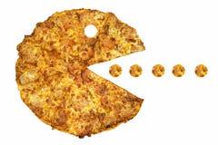 Едок пиццы Стоковое Изображение RF