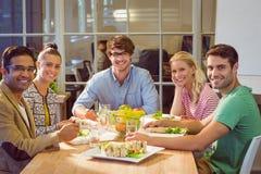 дело имея людей обеда Стоковые Фото