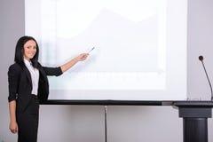 дело предводительствует стол конференции изолированный над белизной Стоковое фото RF
