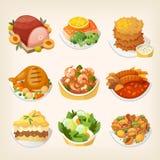 Еды обедающего семьи иллюстрация штока