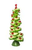 Ель рождества ` s Нового Года от вычисляемых огурцов и гранатового дерева отрезка Стоковые Изображения