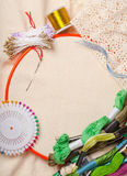�mbroidery tools Stock Image