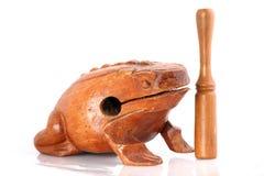 жаба ритма percusion аппаратуры деревянная Стоковые Изображения