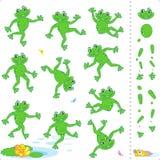 жабы лягушек персонажей из мультфильма Стоковые Изображения