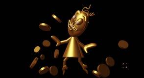 жадность золота денег женщины перевода 3d бесплатная иллюстрация