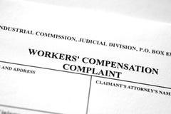 Жалоба формы компенсации работников работника стоковые фото