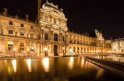 Жалюзи Musee в Париже к ноча Стоковая Фотография RF