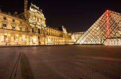 Жалюзи Musee в Париже к ноча Стоковое Фото