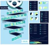 Жанры кино infographic иллюстрация вектора