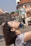 Жара в городе на улице в изнемогающих горячих днях стоковые изображения rf
