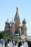 Жара красной площади Москвы собора базилика s St стоковое фото