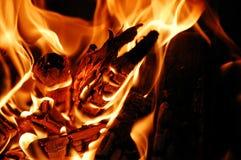 Жара огня в ноче Стоковое Изображение