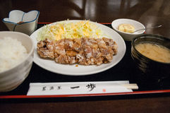 Жареная курица стиля Мацумото, префектура Nagano, Япония Стоковое Фото