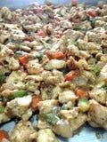 Жареная курица с черным перцем Стоковые Фотографии RF