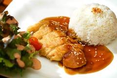 Жареная курица Teriyaki Стоковое Изображение RF