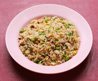 Жареные рисы. серия 9 азиатских тарелок еды. Стоковое Изображение