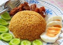 Жареные рисы с затиром chili. Стоковое Фото