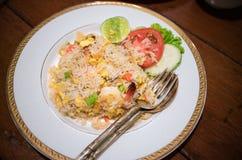 Жареные рисы с мясом краба Стоковое Изображение